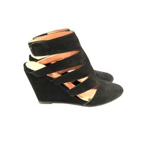 Jeffery Campbell 4 Free People Black Cut Out Wedge